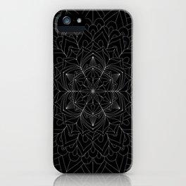 Tranquility | No. 1 | Black and white | Mandala Art iPhone Case