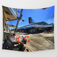 mad hatter Wall Tapestries featuring mAD hATTER by gymmybob