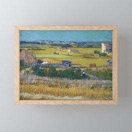 The Harvest by Vincent van Gogh Framed Mini Art Print