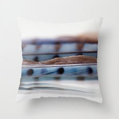 Blue Jay Wave Throw Pillow