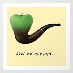 this is a pipe Art Print