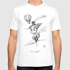 Flying Skull Mens Fitted Tee White MEDIUM