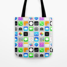 Phone Apps (Flat design) Tote Bag