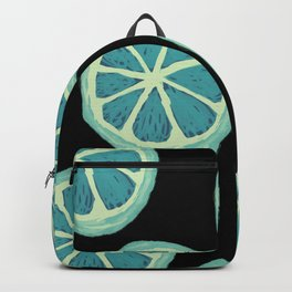 Grapefruit Illustration - Mint and Charcoal Backpack