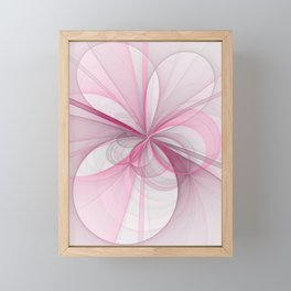 The Birth of Pink, Abstract Fractal Art Framed Mini Art Print