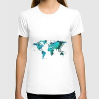 world maps T-shirts featuring maps by StraySheep