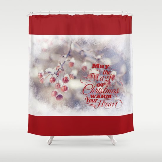 Frosted Christmas Shower Curtain
