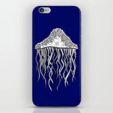 Blue Jellyfish iPhone & iPod Skin