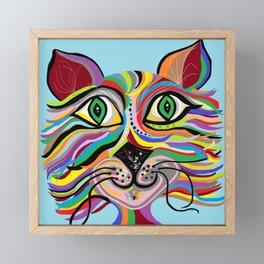 Grinning Cat Framed Mini Art Print