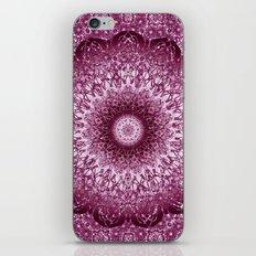 Cabernet Lace Mandala iPhone & iPod Skin