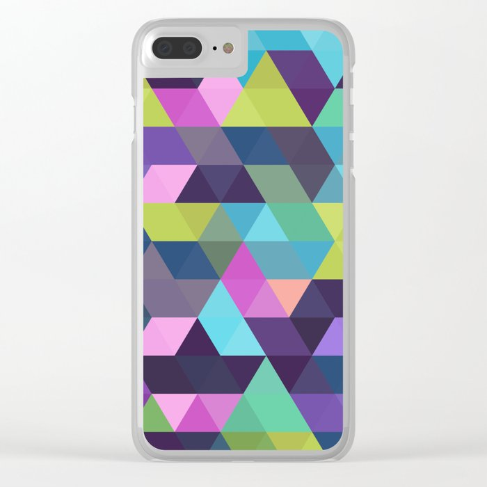 Colorful Geometric Background III Clear iPhone Case