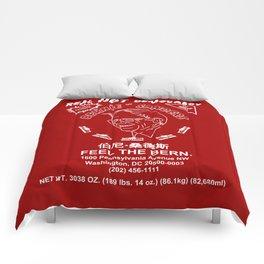 Bernie Sanders Sriracha Style Feel The Bern Comforters