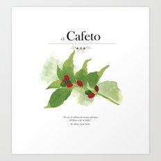 el Cafeto (coffee plant) Art Print