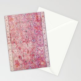 N45 - Pink Vintage Traditional Moroccan Boho & Farmhouse Style Artwork. Stationery Cards