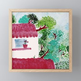House in the woods Framed Mini Art Print