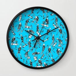 Grim Ripper BLUE Wall Clock