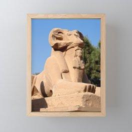 Ram-headed Sphinx in Karnak Framed Mini Art Print