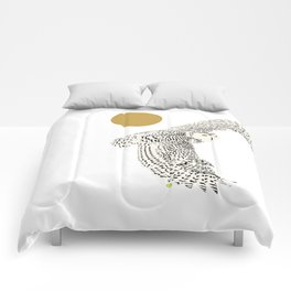 Art print: The snowy owl in flight Comforters