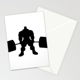 Heavy weight lifting beast Stationery Cards