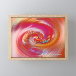 """""""Desert Sun #2 ~ Twirl"""" Painting Framed Mini Art Print"""