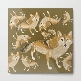 Totem Tibetan Wolf (Pattern Warm) Metal Print