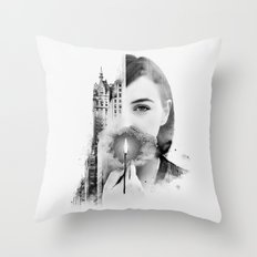 City Within Throw Pillow