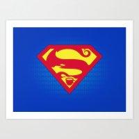 Super Strong Coffee Art Print