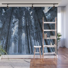 Snowy Winter Trees - Forest Nature Photography Wall Mural