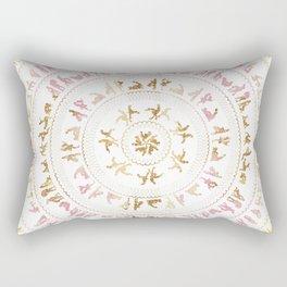 Kama Sutra Mandala Pink and Gold Rectangular Pillow