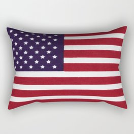 "Stars & Stripes flag, painterly ""old glory"" Rectangular Pillow"
