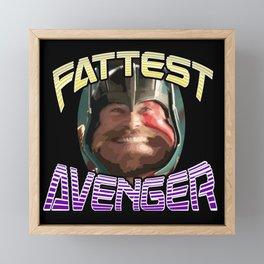 Thor : The Fattest Avenger! Parody Design Framed Mini Art Print
