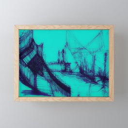 Where is the future? AQUA Framed Mini Art Print