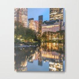 Central Park City Lights Metal Print
