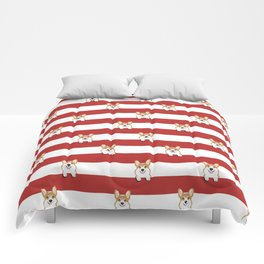 Corgi Stripes Corgi Dog design Cute Corgi Pet Gifts Comforters
