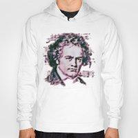 beethoven Hoodies featuring Beethoven by Zandonai