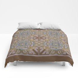 Gender Equality Tiled - Brown Olive Comforters