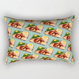 TV Dinner Pattern Rectangular Pillow