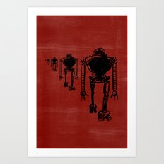March Of The Robots Art Print