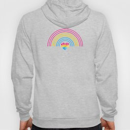 Pansexual Heart Rainbow graphic LGBTQ Pride Gift Idea Hoody