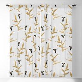 Hummingbird & Flower II Blackout Curtain