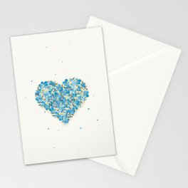 forget-me-nots heart Stationery Cards