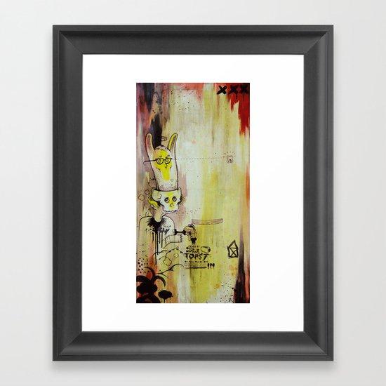 Deathy By Fresh Toast Framed Art Print
