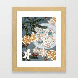 Gingerbread Men Cookies Framed Art Print