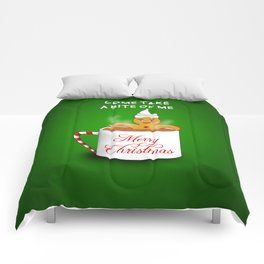 Gingerbread Man at the Chocolate Spa -Christmas Comforters