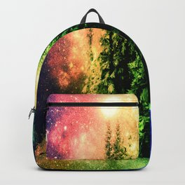 Galaxy Forest Rainbow Snow Backpack