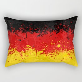 Germany Flag - Messy Action Painting Rectangular Pillow