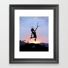 Loki Kid Framed Art Print