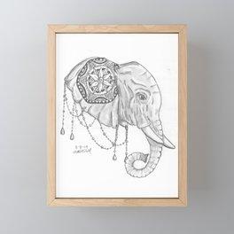 Elephant Mandala Framed Mini Art Print