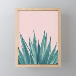 Blush Agave Dream #1 #tropical #decor #art #society6 Framed Mini Art Print