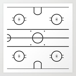 Ice Hockey Rink Art Print